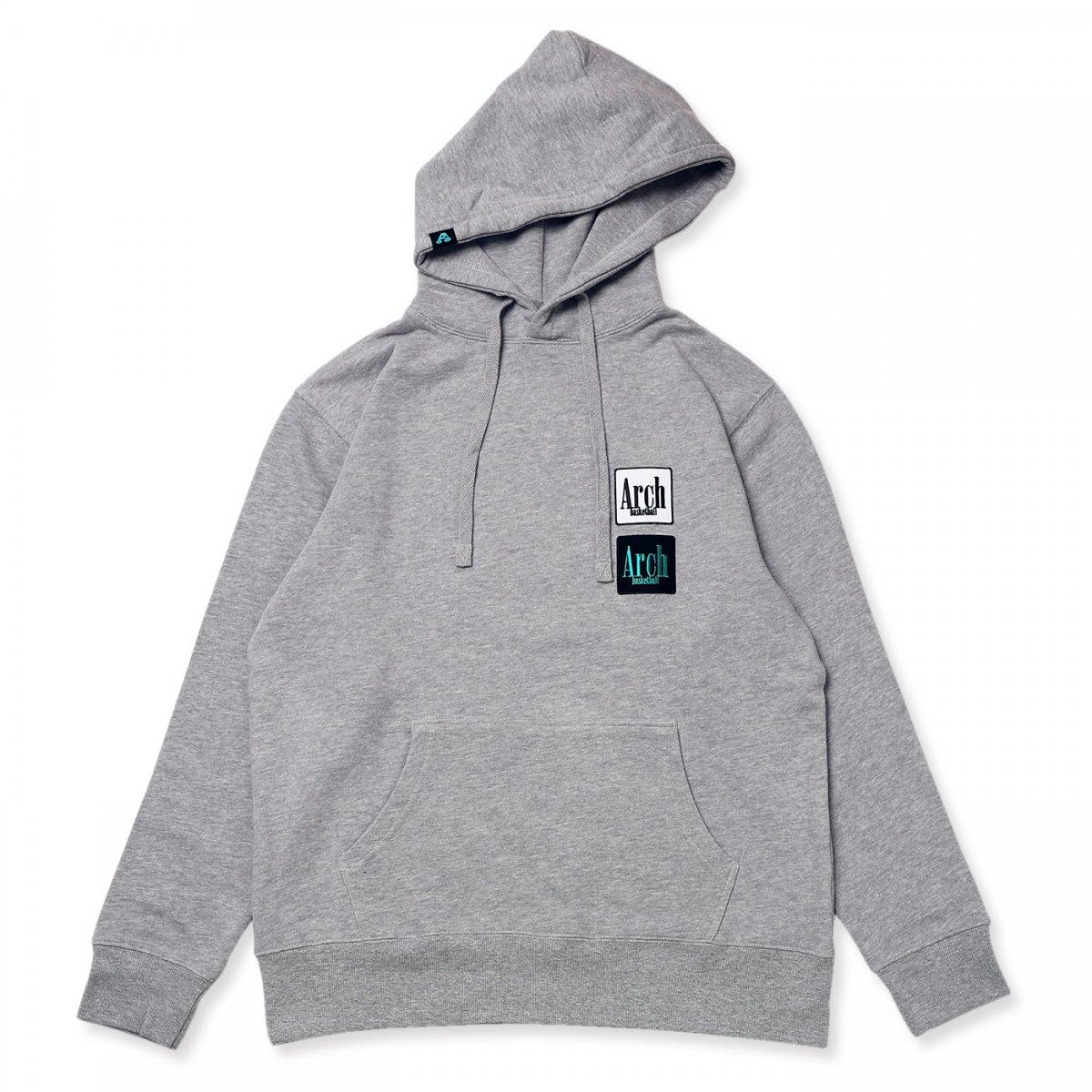 square logo P/O parka【gray】