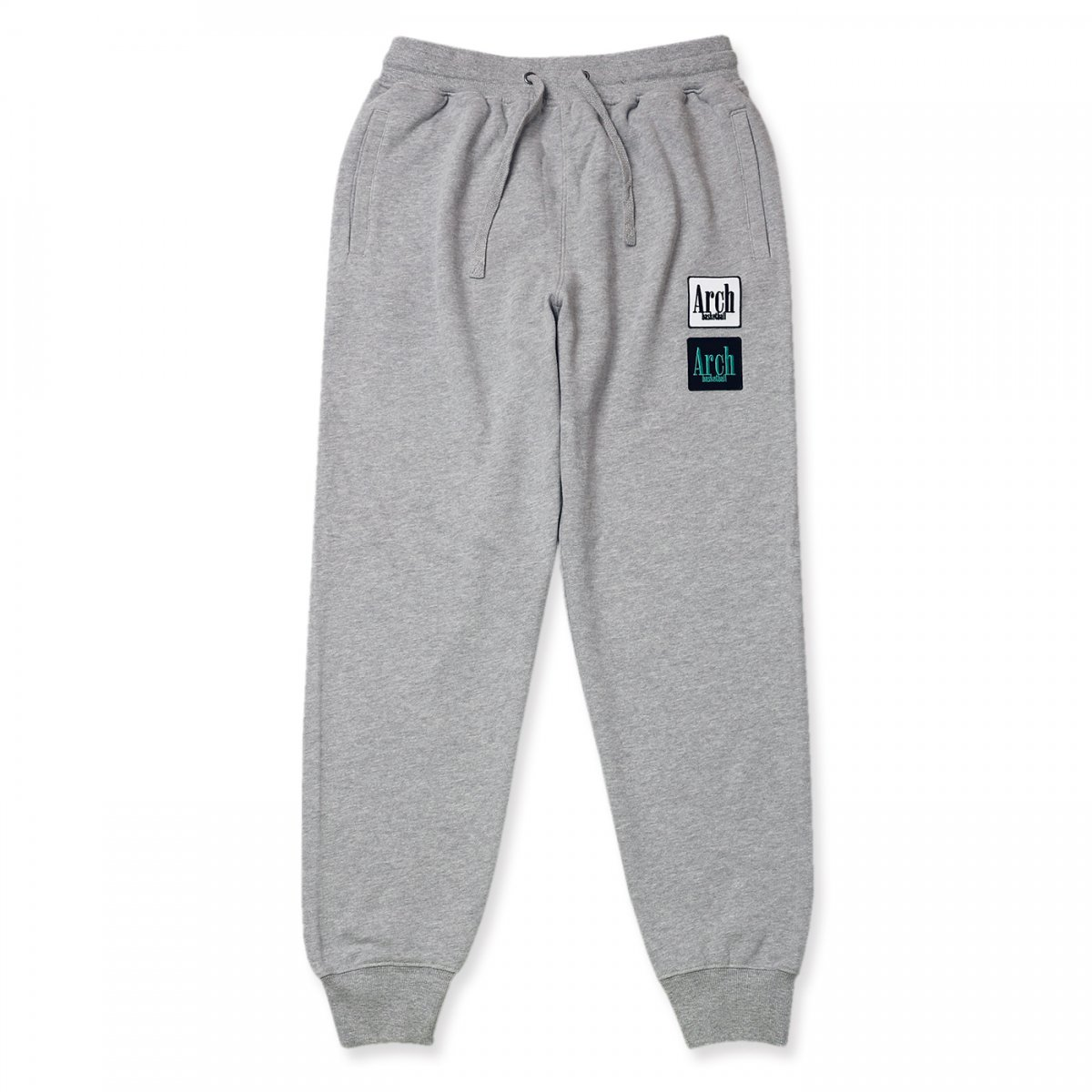 square logo sweat pants【gray】