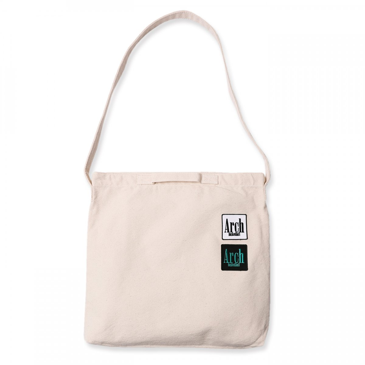 square logo 2way bag【natural】