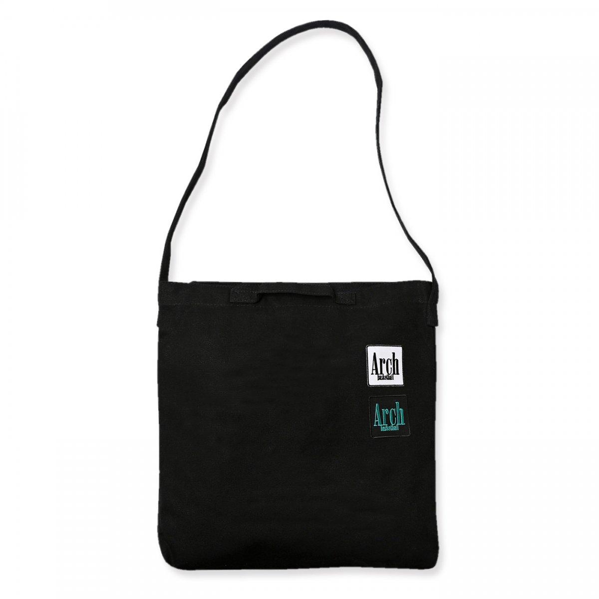 square logo 2way bag【black】