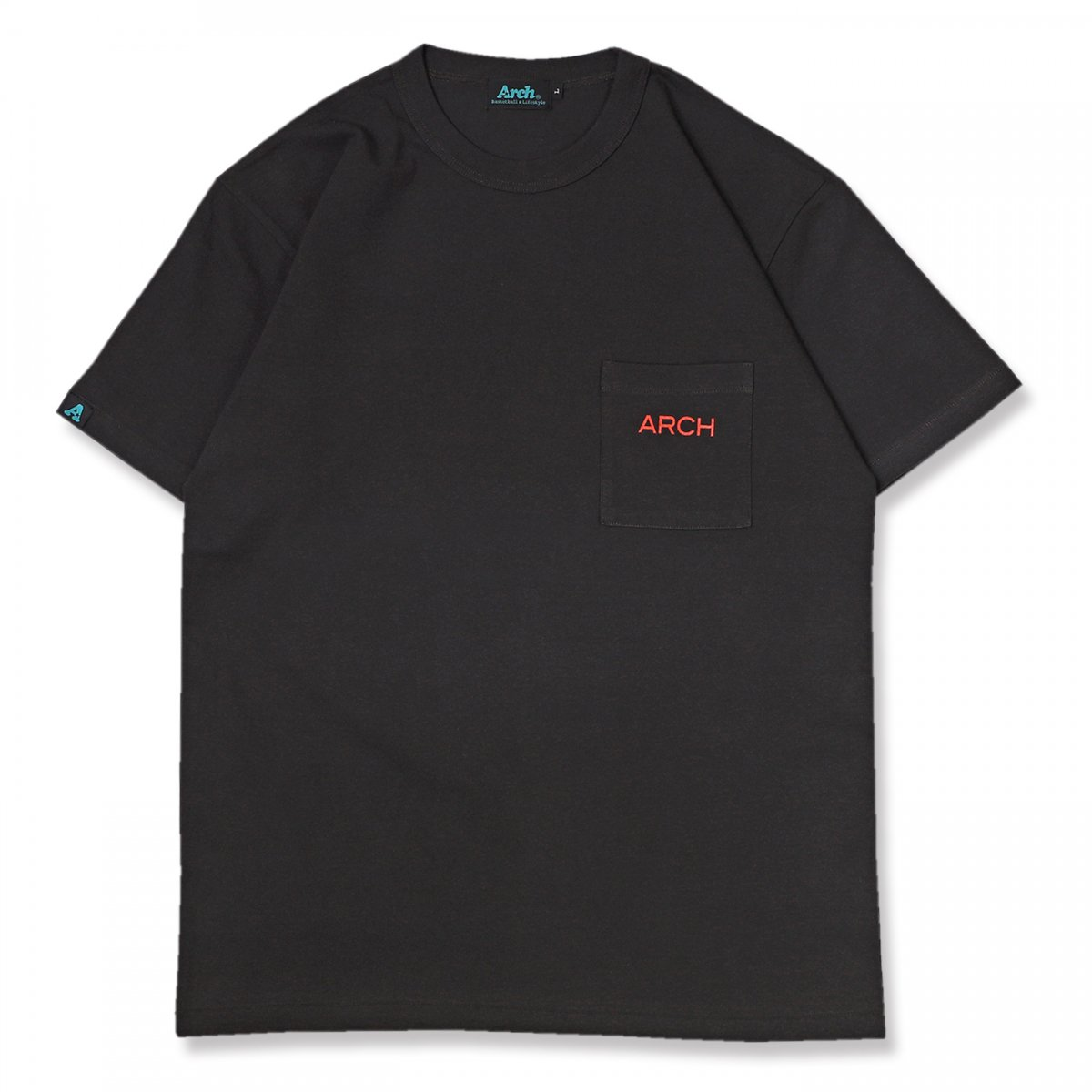 halftone camo pocket tee【black】
