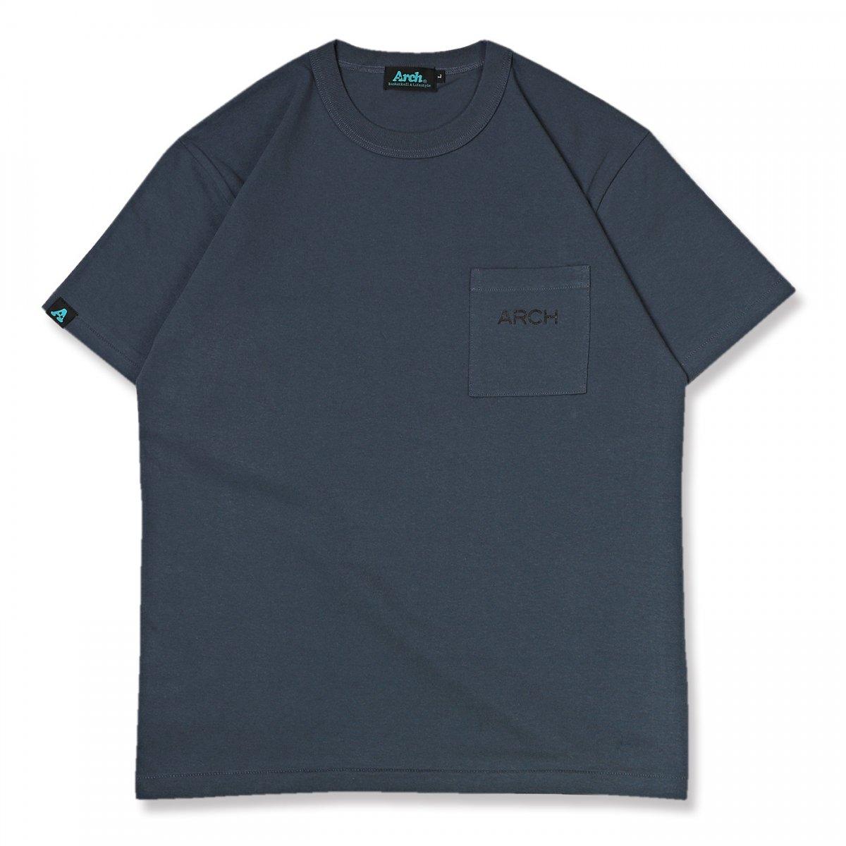 halftone camo pocket tee【asphalt blue】