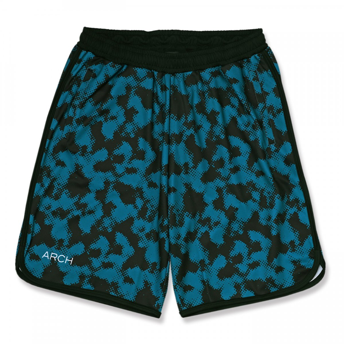halftone camo shorts【blue】