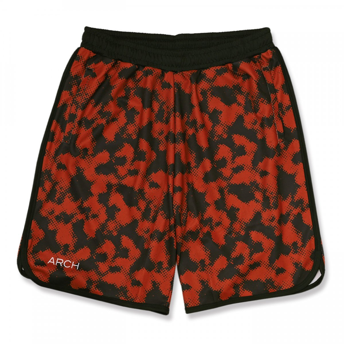 halftone camo shorts【brick red】