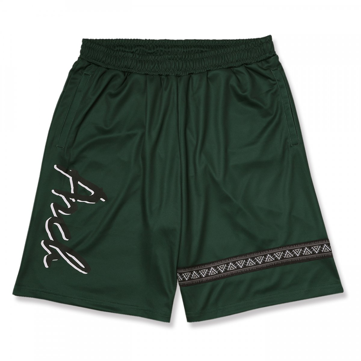 ethnic line shorts【green】