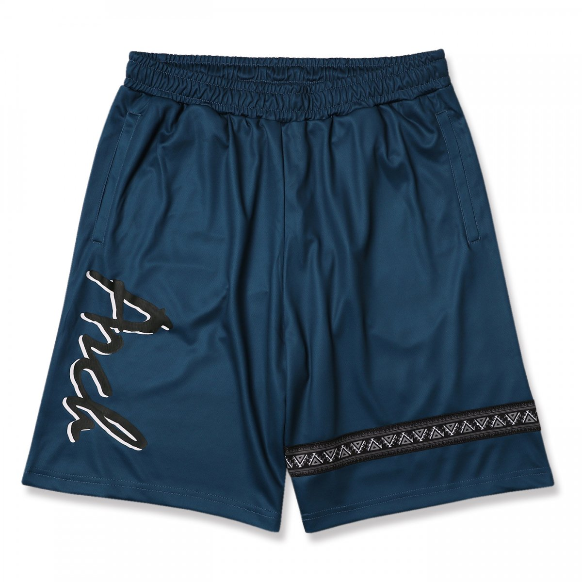 ethnic line shorts【blue】