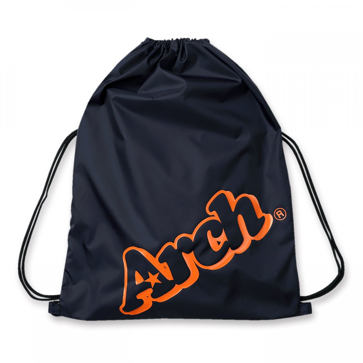 sloping logo gym sack【navy/orange】