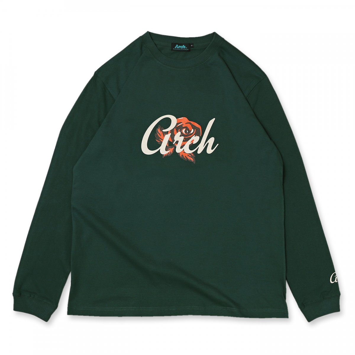 the rose L/S tee 【green】
