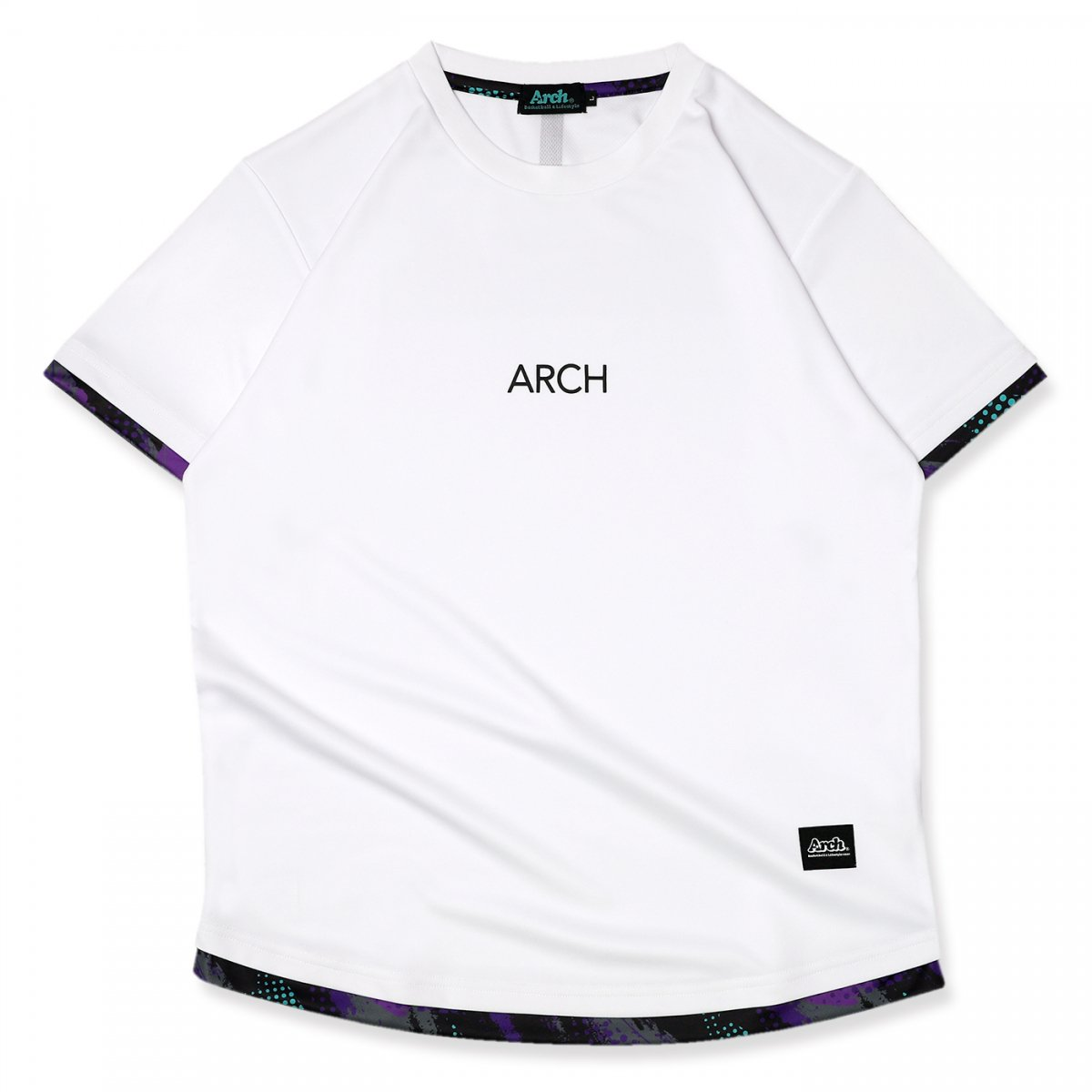 updraft tee [DRY]【white/purple】
