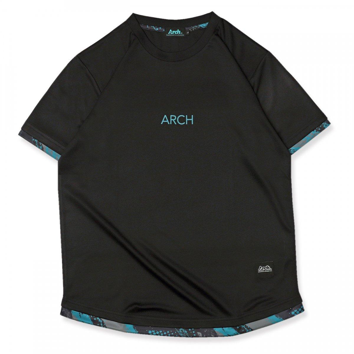 アップドラフトTシャツブラック/ティール