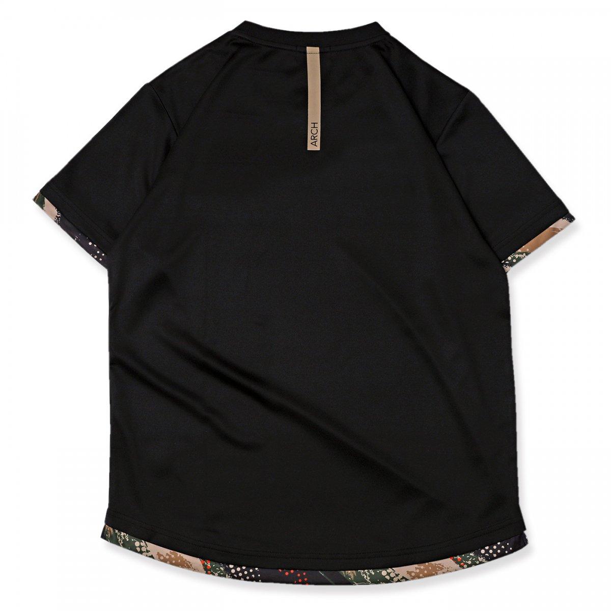 アップドラフト Tシャツ ブラック/ベージュ