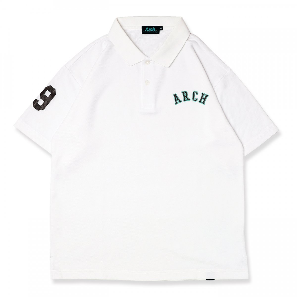 stitch logo polo [DRY]【white】
