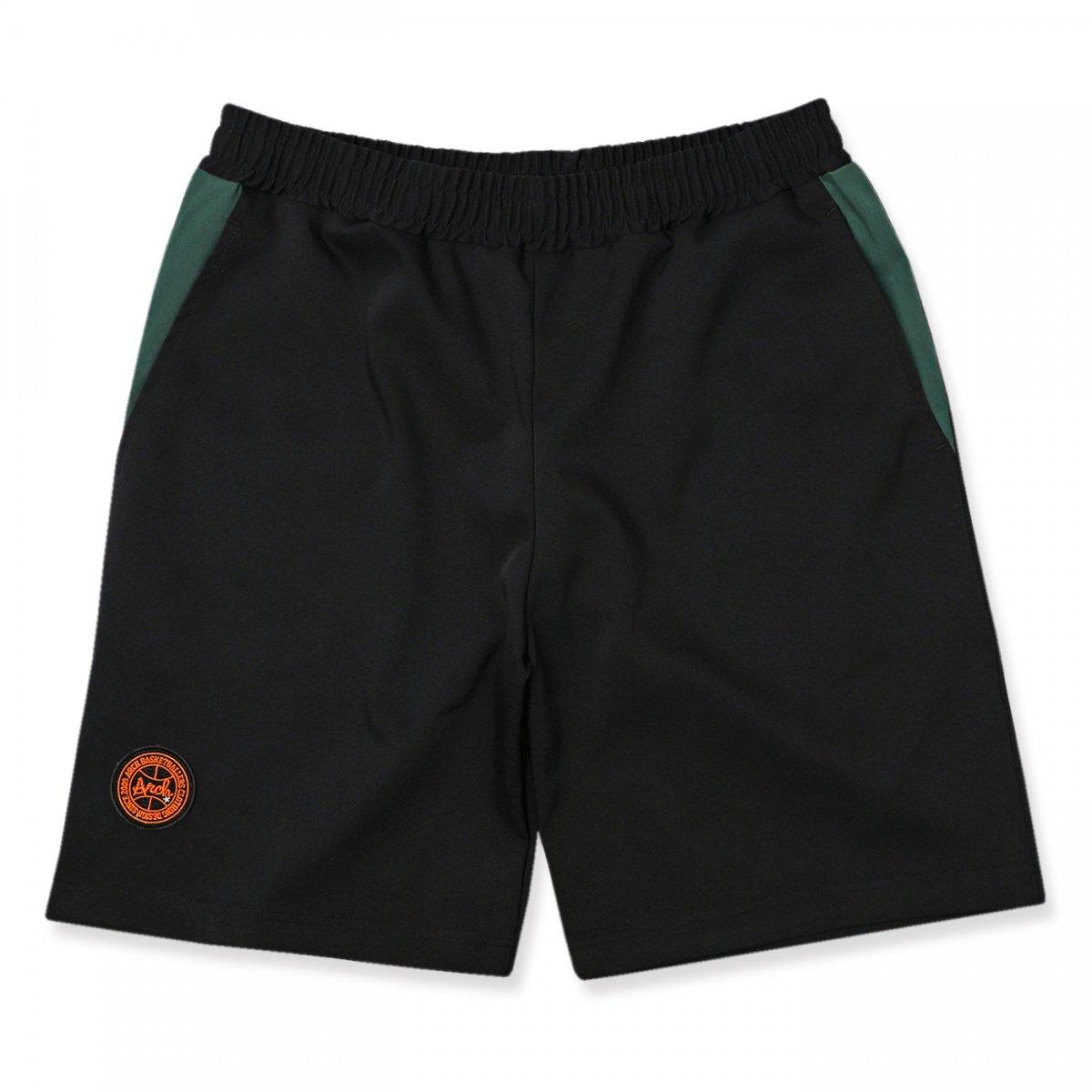 side switch chino half pants 【black】