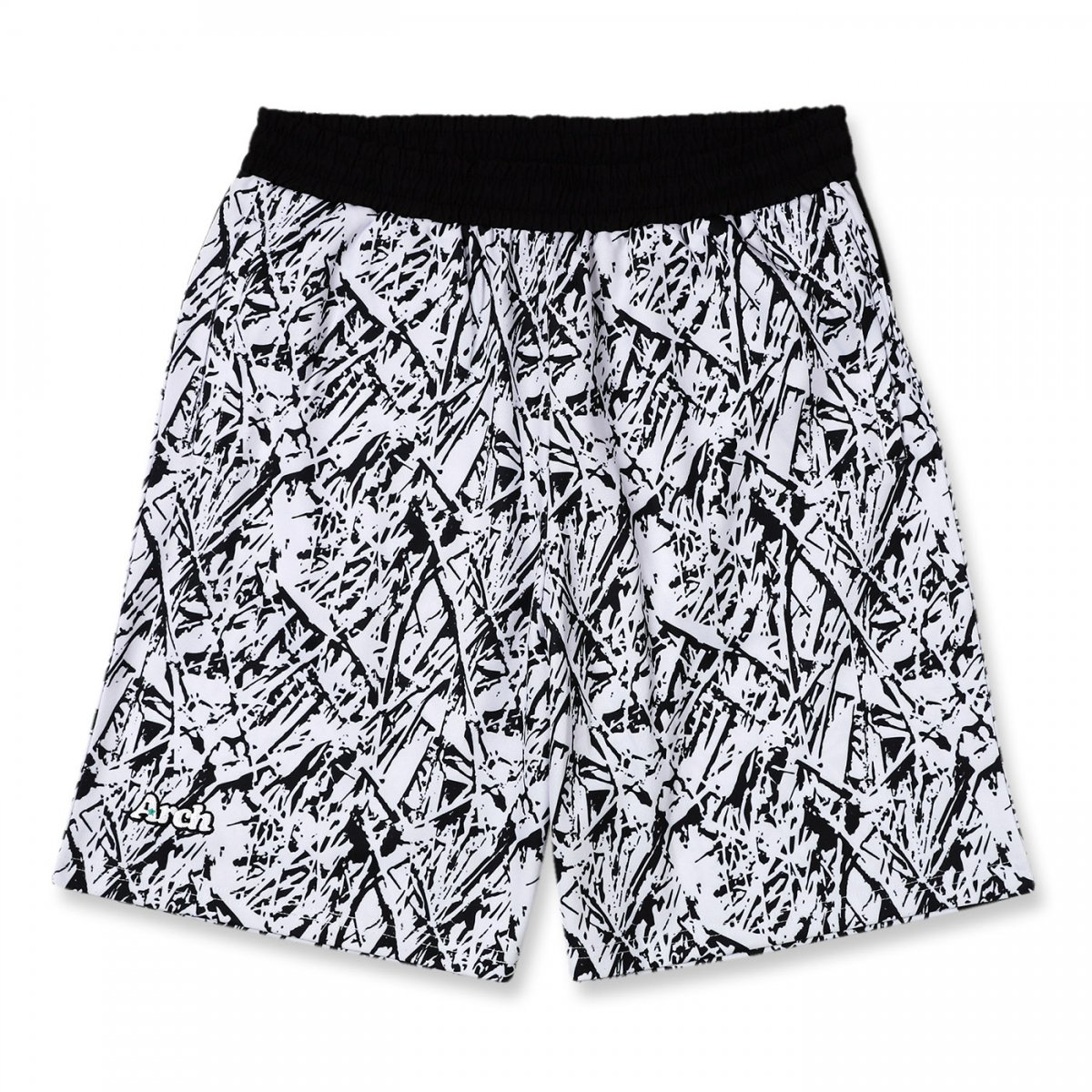 nervure shorts 【white/black】