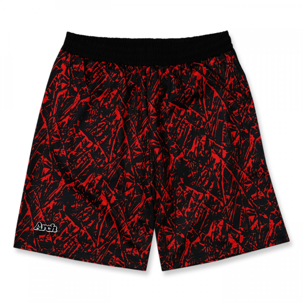 nervure shorts 【red/black】