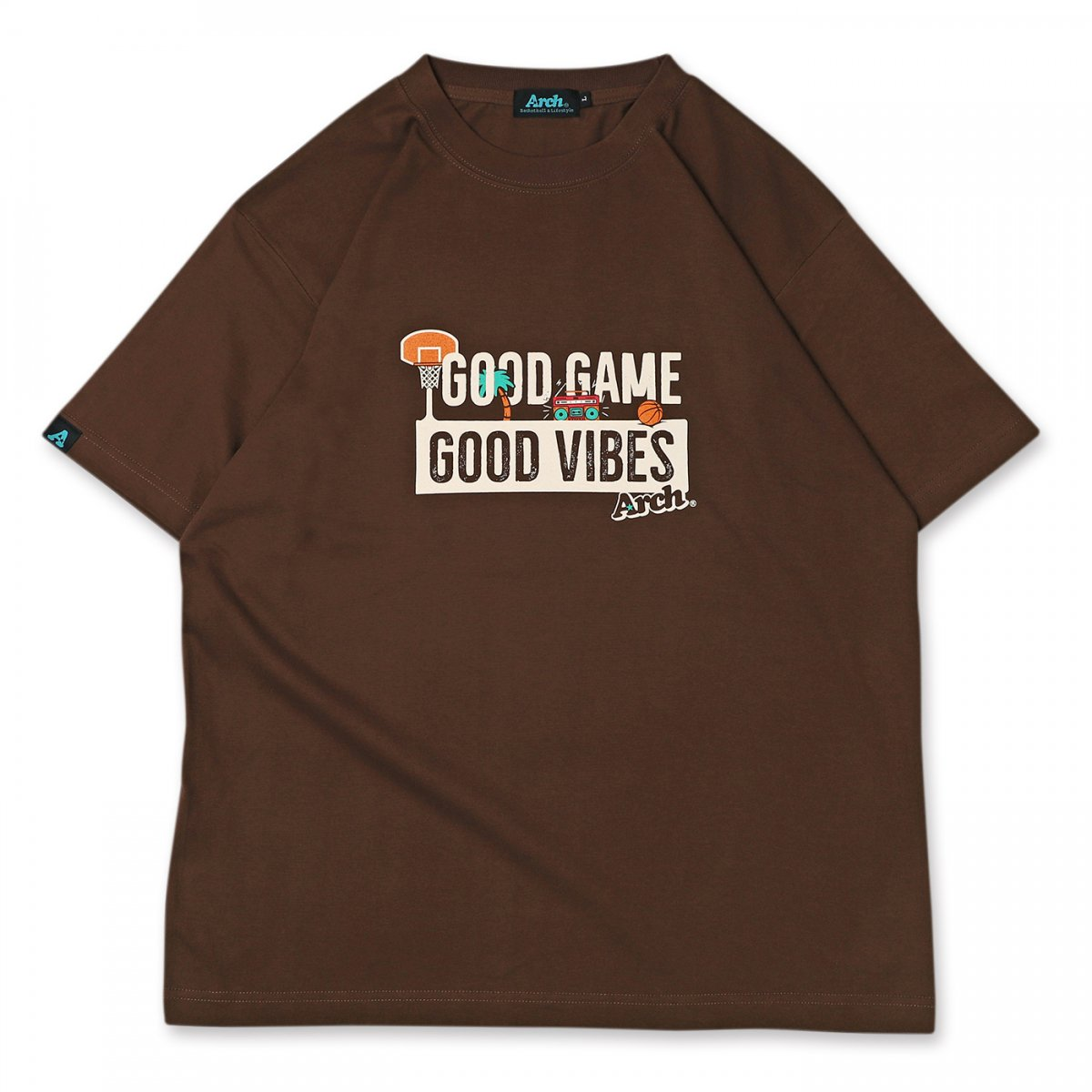 good game tee 【brown】