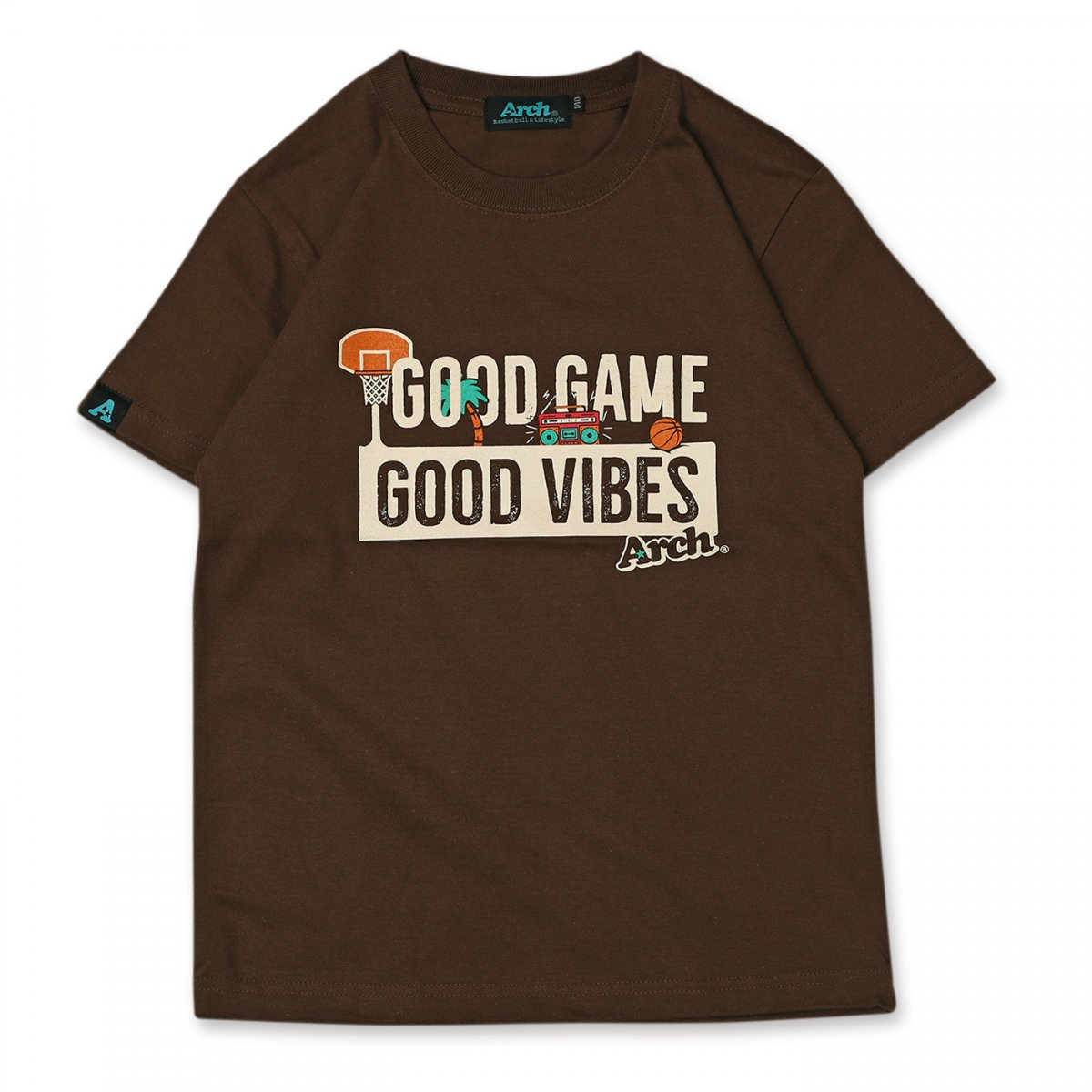 グッドゲーム Tシャツ キッズ ブラウン