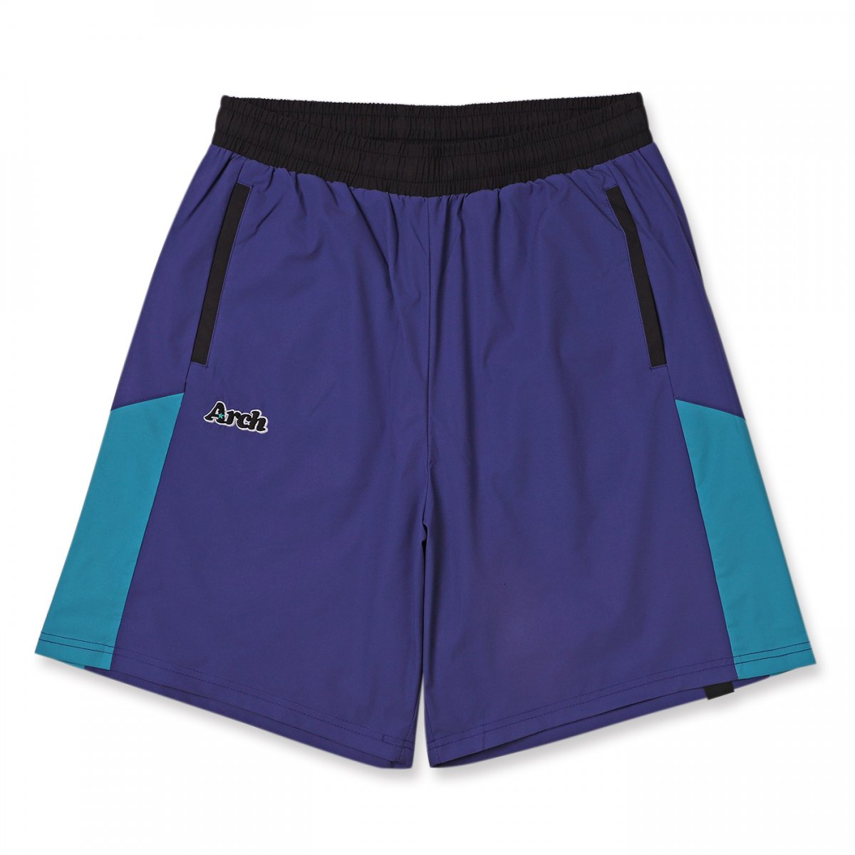 rise paneled shorts 【purple】