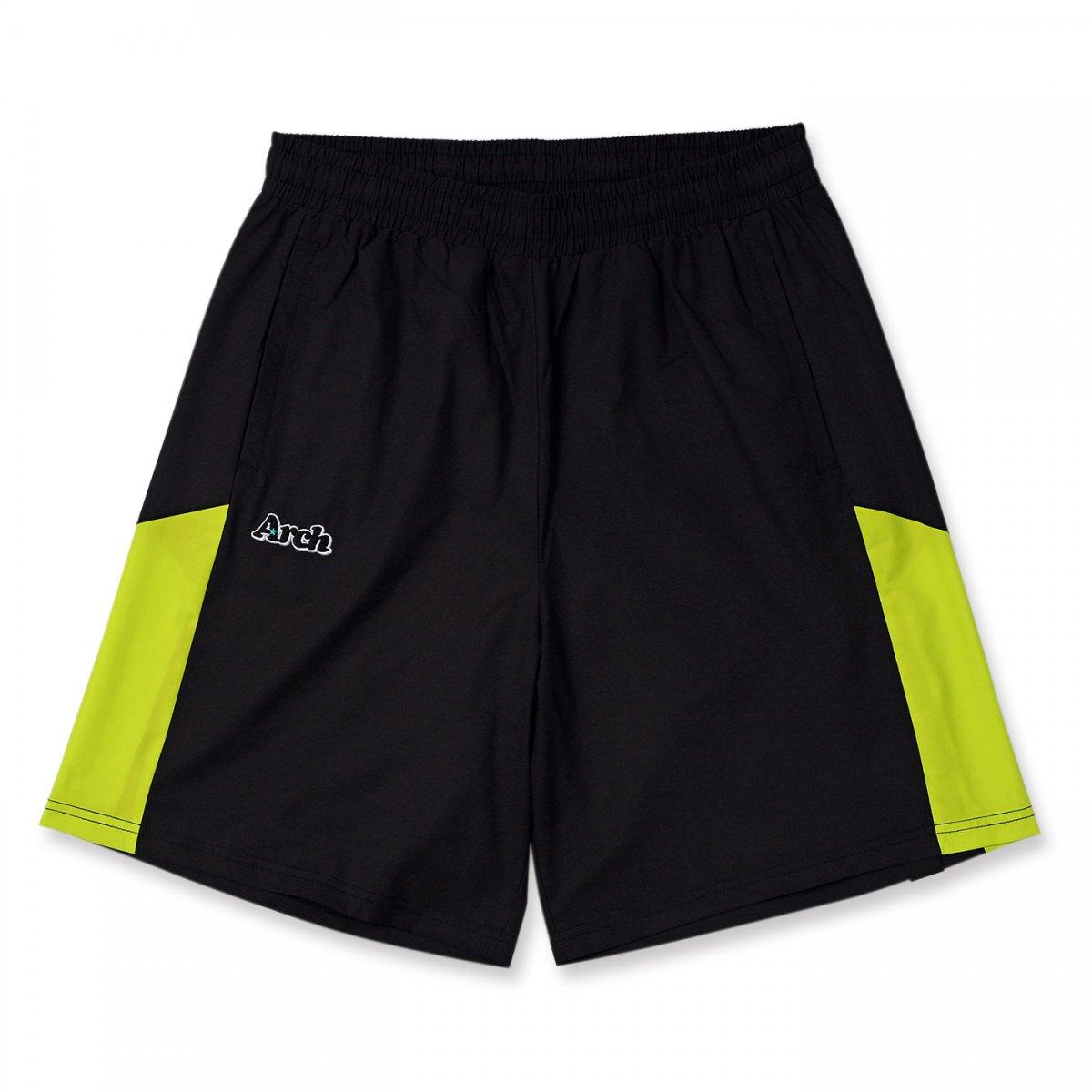 rise paneled shorts 【black】