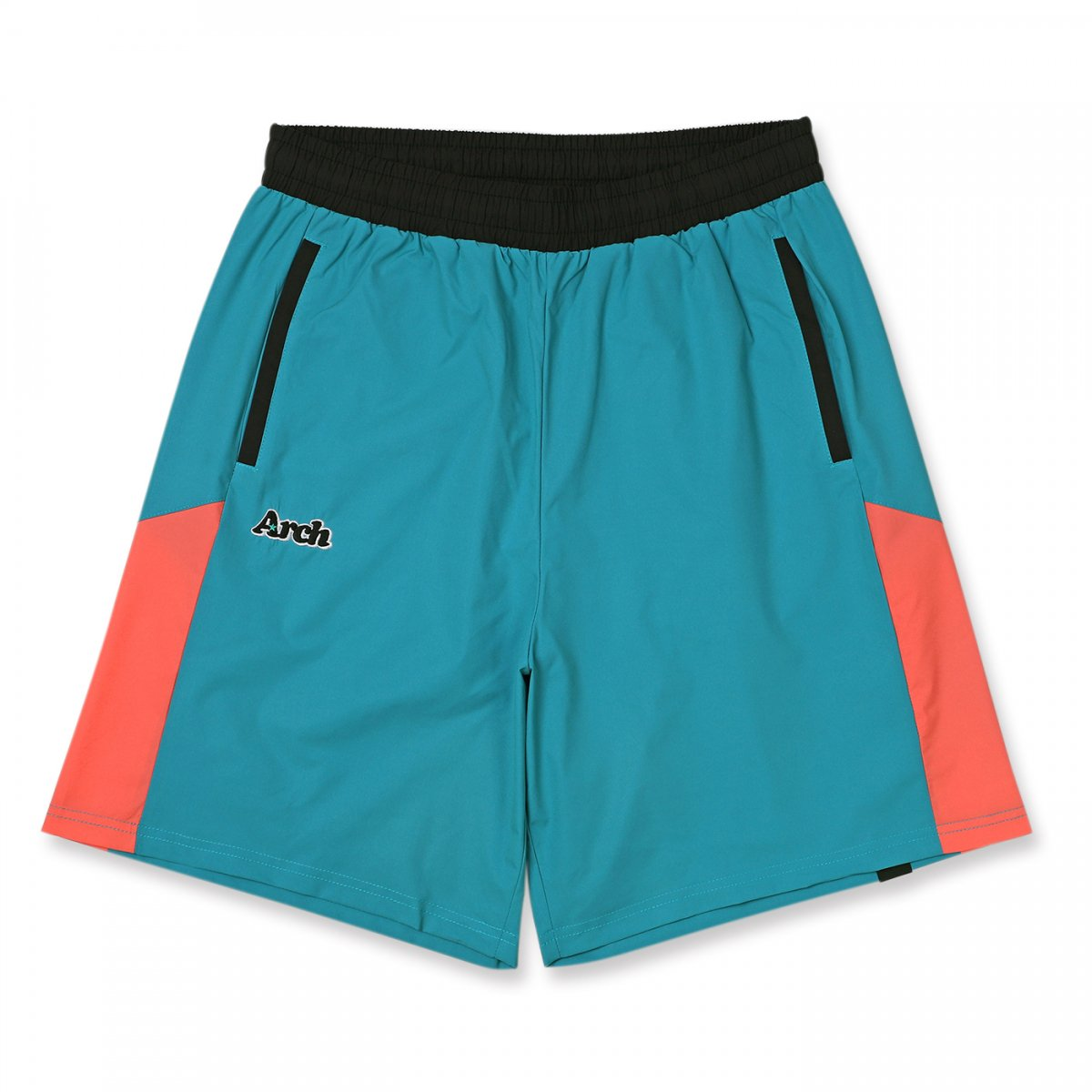 rise paneled shorts 【peacock blue】