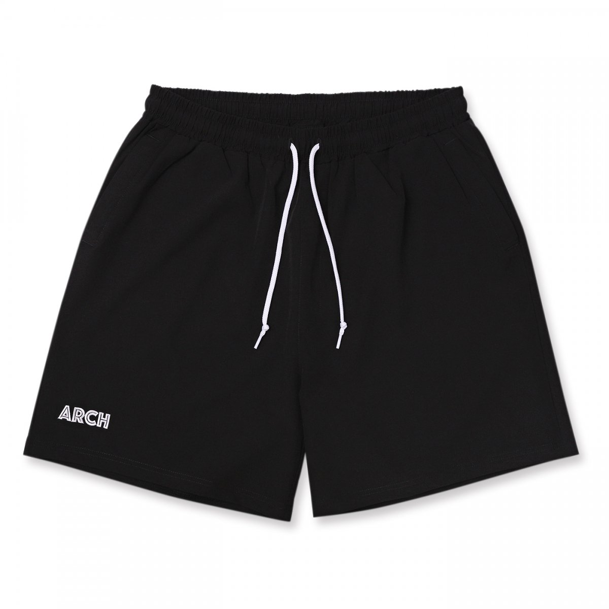 stretch nylon short pants【black】