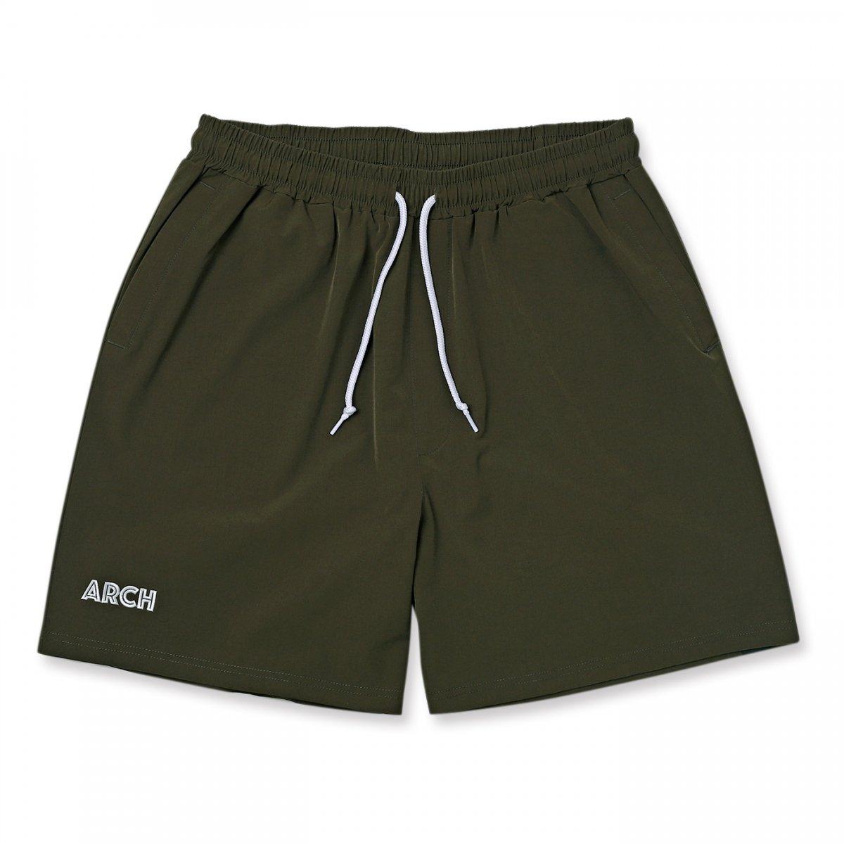 stretch nylon short pants 【khaki】