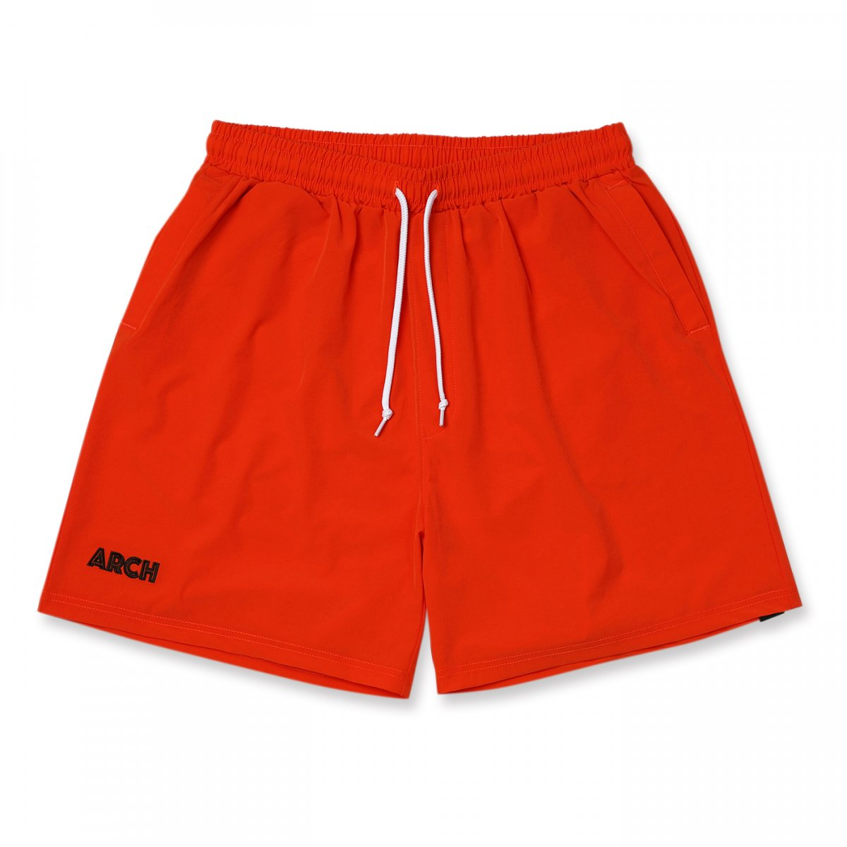 stretch nylon short pants 【vermillion】