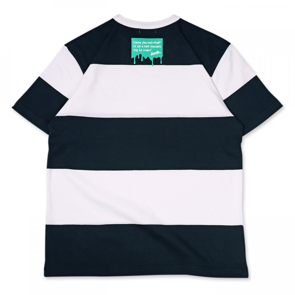 ice patch border tee 【navy/white】