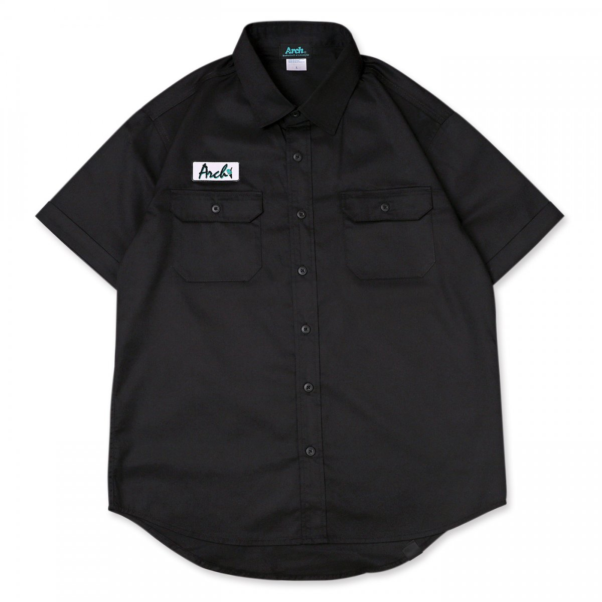 ice patch work shirt 【black】