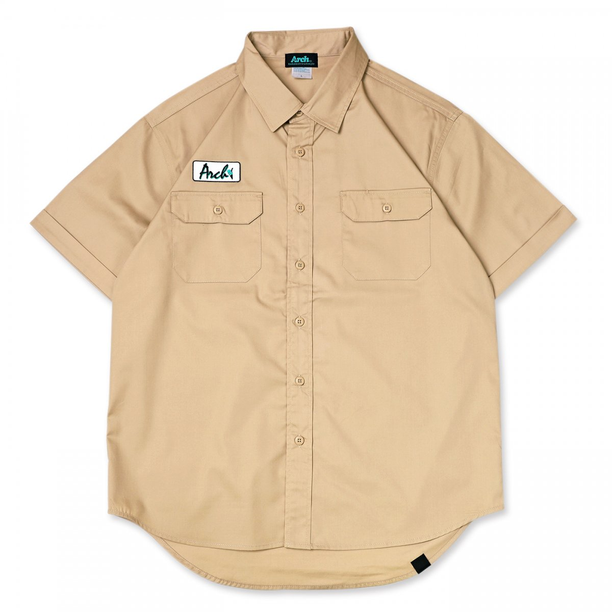 ice patch work shirt 【beige】