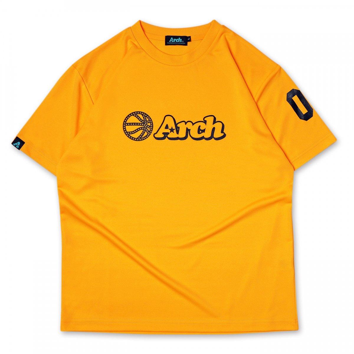 バスケ アーチ ボール ロゴ Tシャツ ブライトイエロー