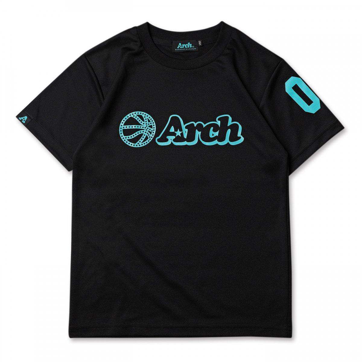 ball logo tee [DRY][KIDS]【black/turquoise】