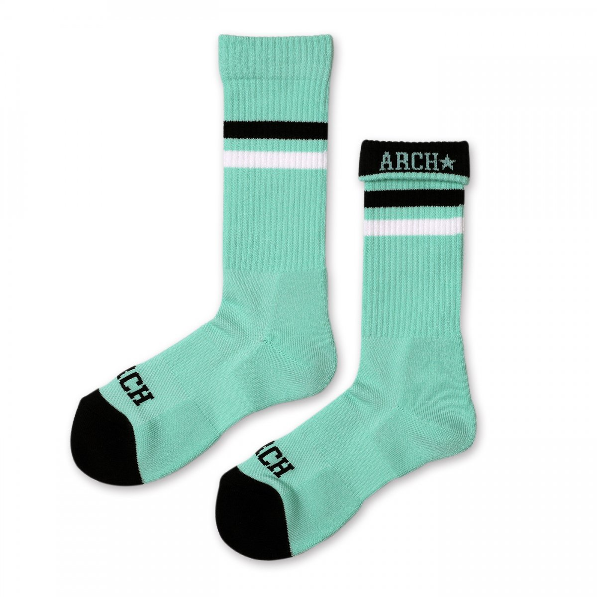 top line crew mid. socks【mint/black】