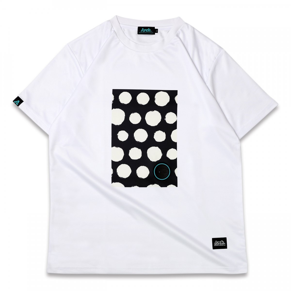 brush dot tee [DRY] 【white】