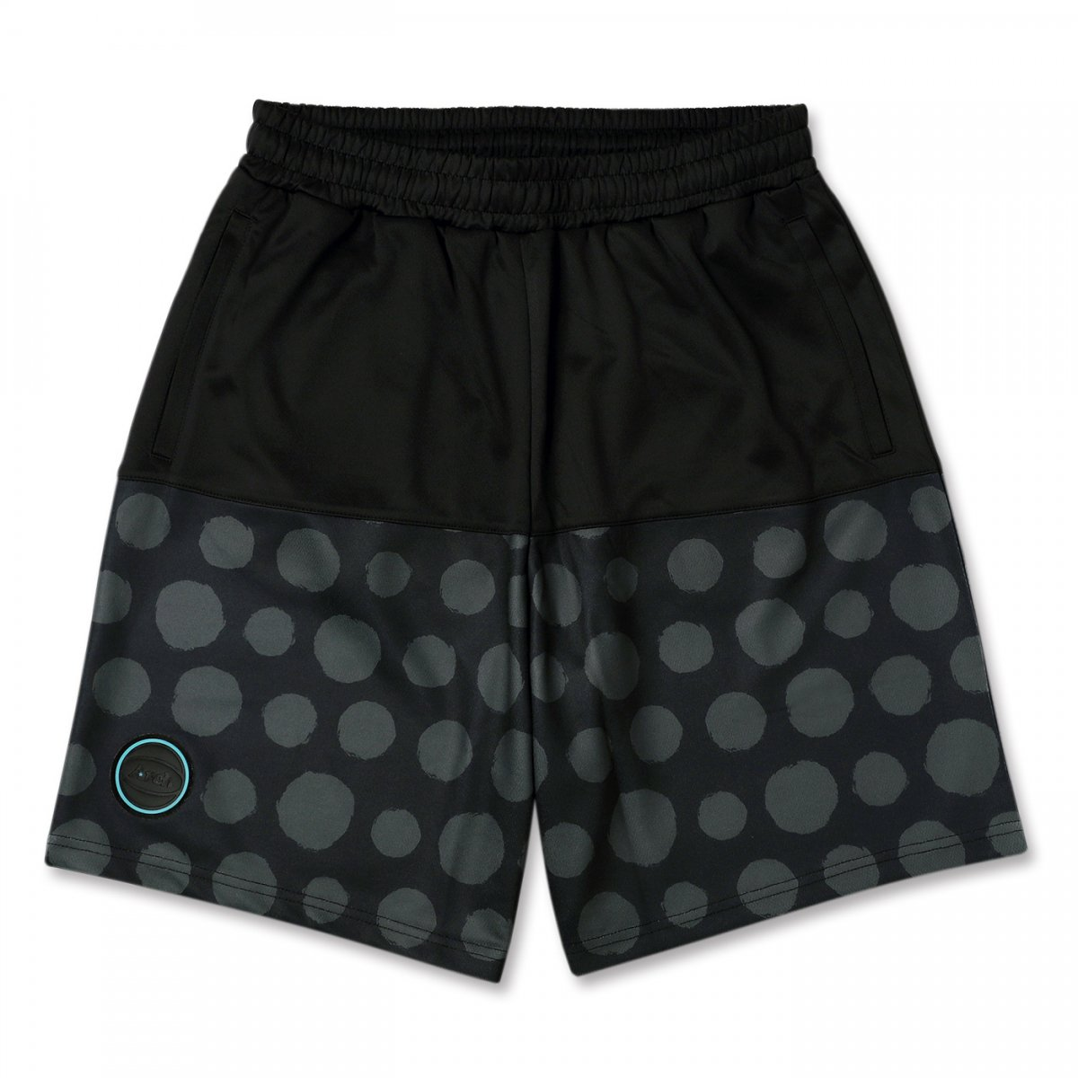 brush dot shorts 【black/gray】