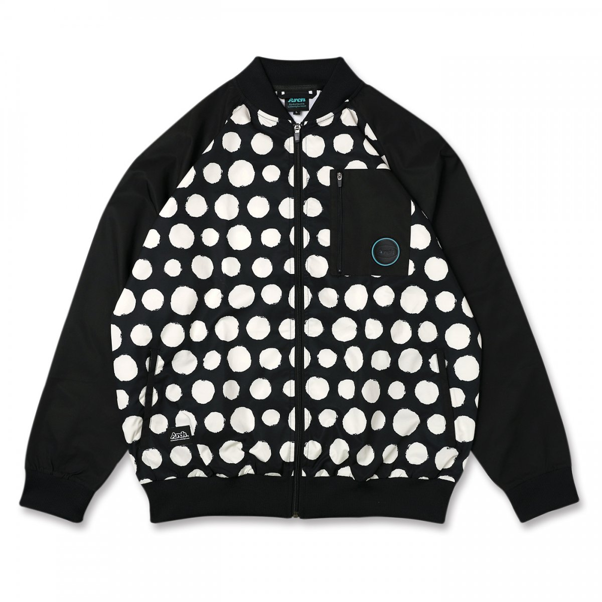 brush dot jacket 【black/vanilla】