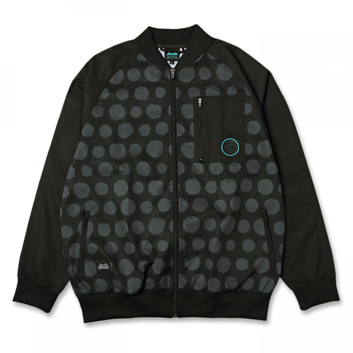 brush dot jacket 【black/gray】