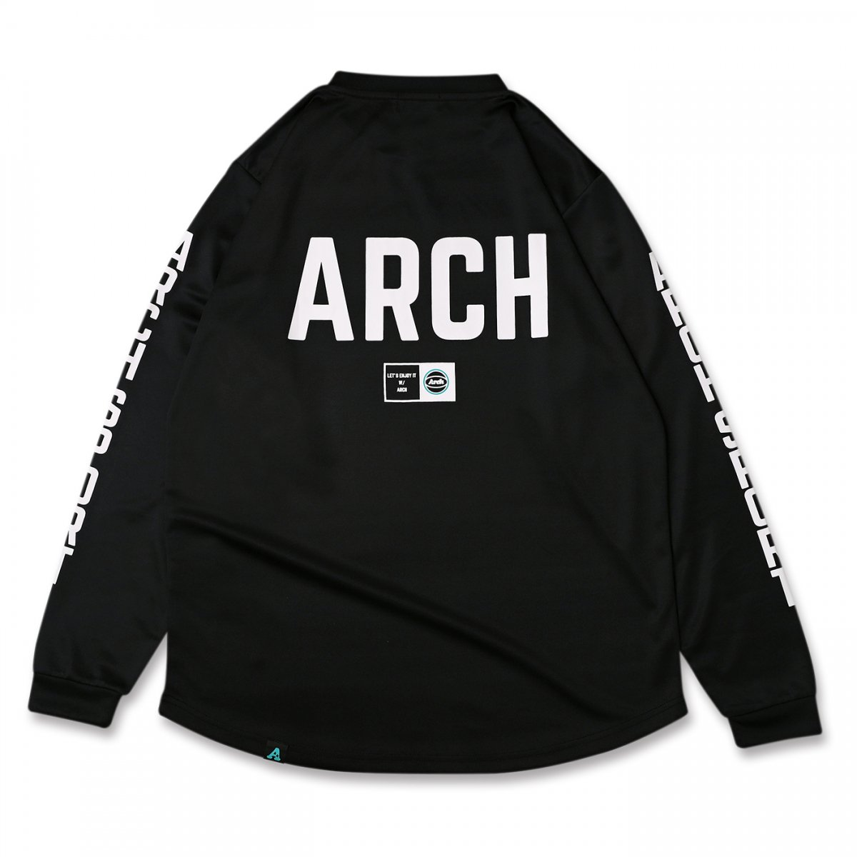 sport lettered L/S tee [DRY] 【black】