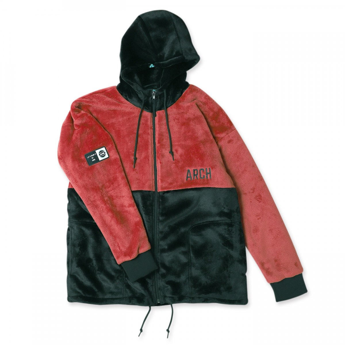sport fleece jacket 【garnet/black】