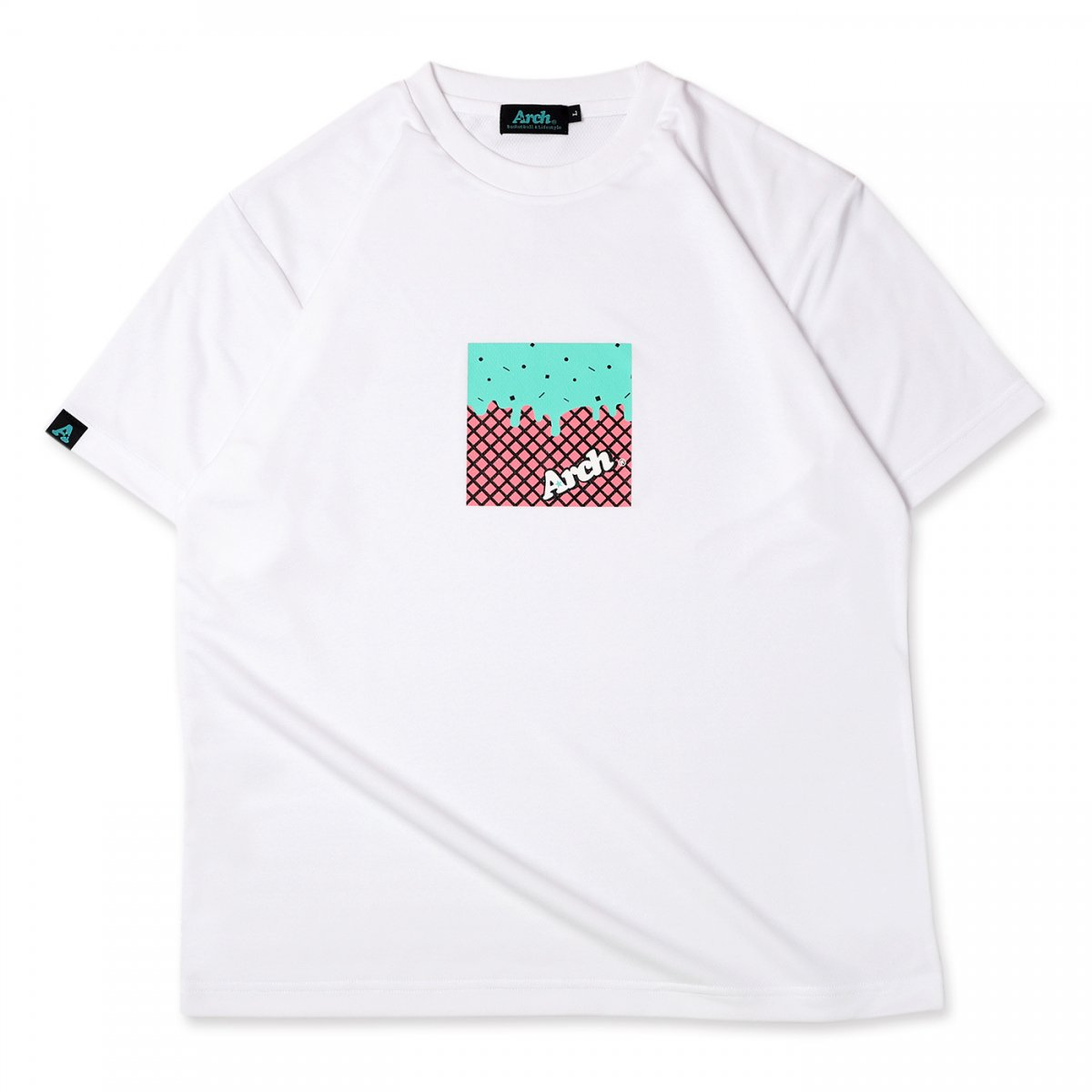 chocomint box tee [DRY] 【white】
