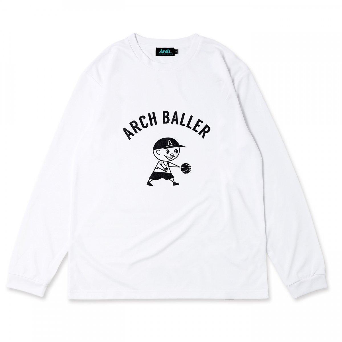 パスザボール L/S Tシャツ ホワイト