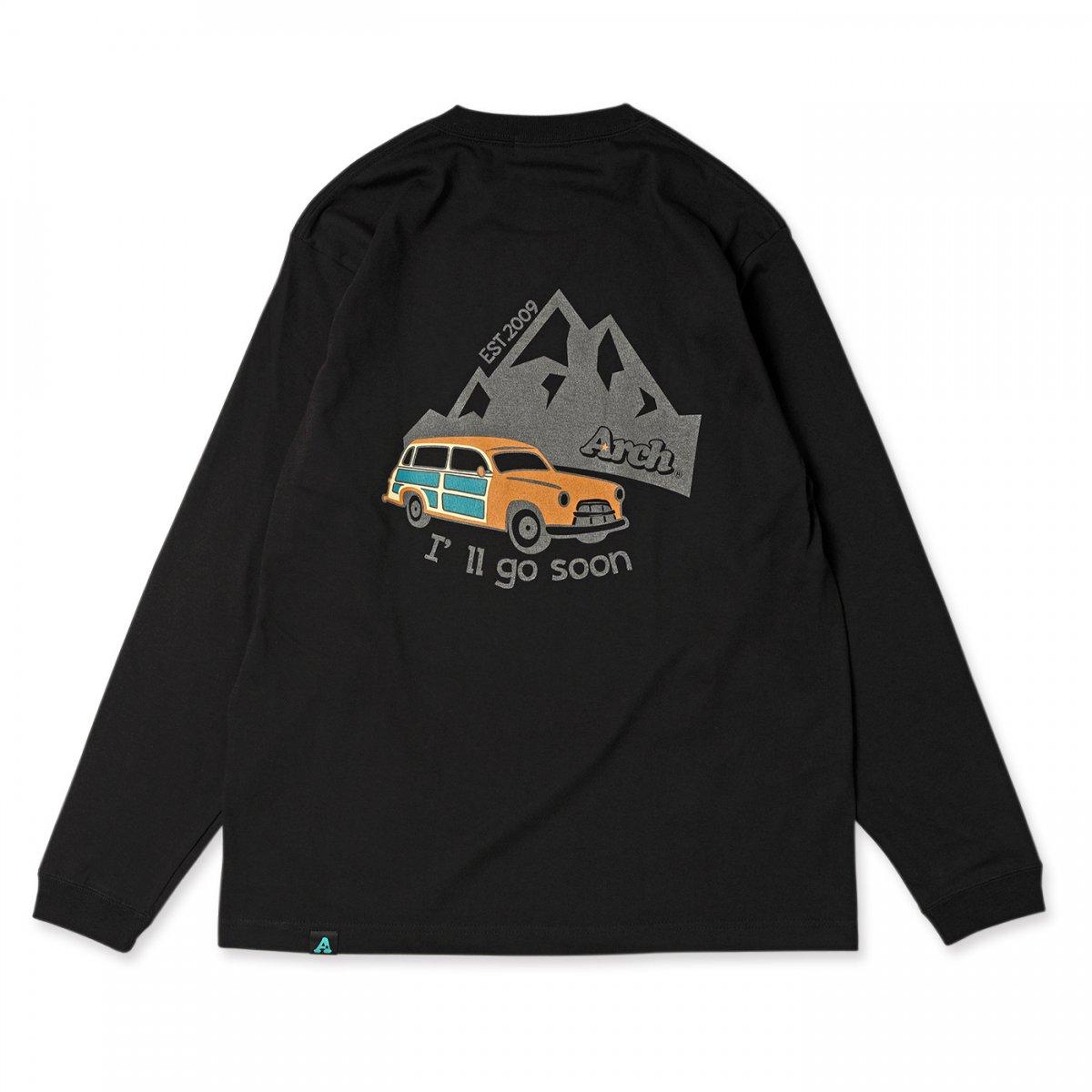 ゴースーン ロゴ ロングスリーブT   ブラック
