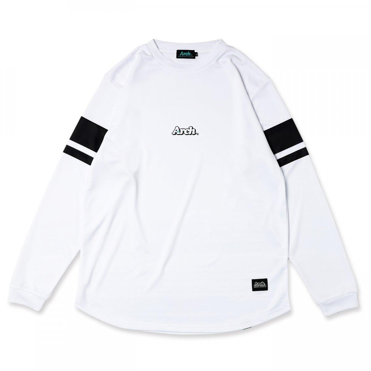 スリーブボーダー L/S Tシャツ ホワイト