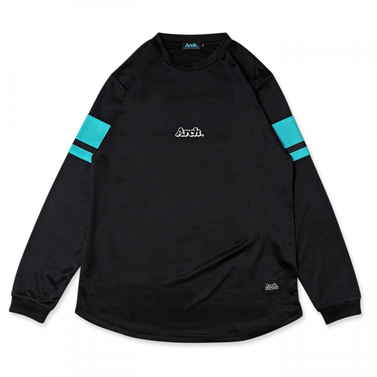 スリーブボーダー L/S Tシャツ  ブラック