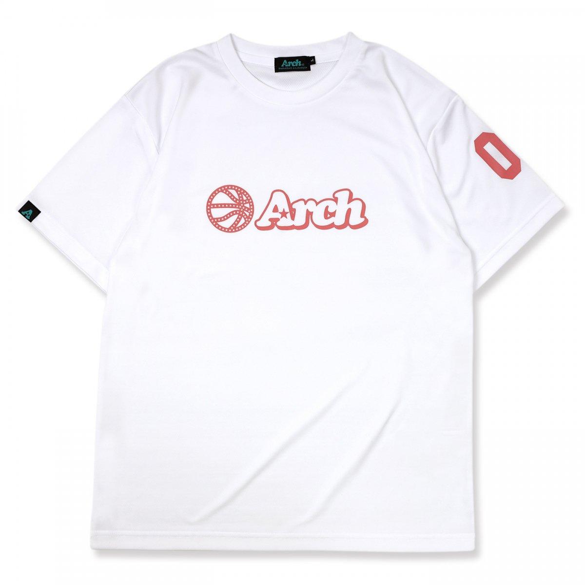 バスケ アーチ ボール ロゴ Tシャツ ホワイト/ピンク