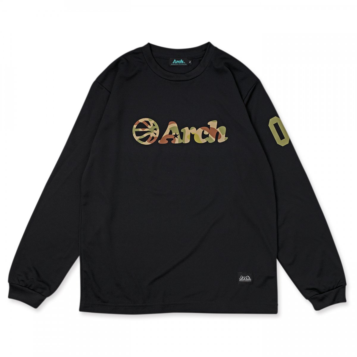 カモボール ロゴ L/Tシャツ ブラック