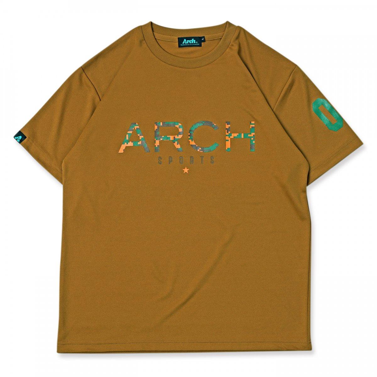 pixel camo tee [DRY]【sand brown】