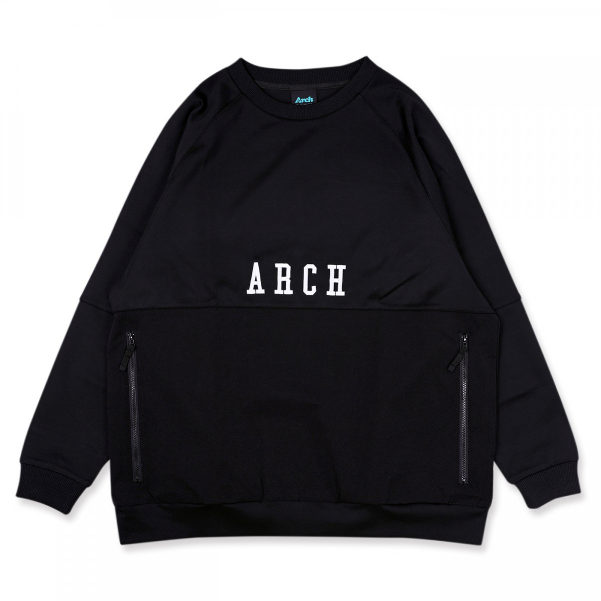 block pocket crewneck 【black】