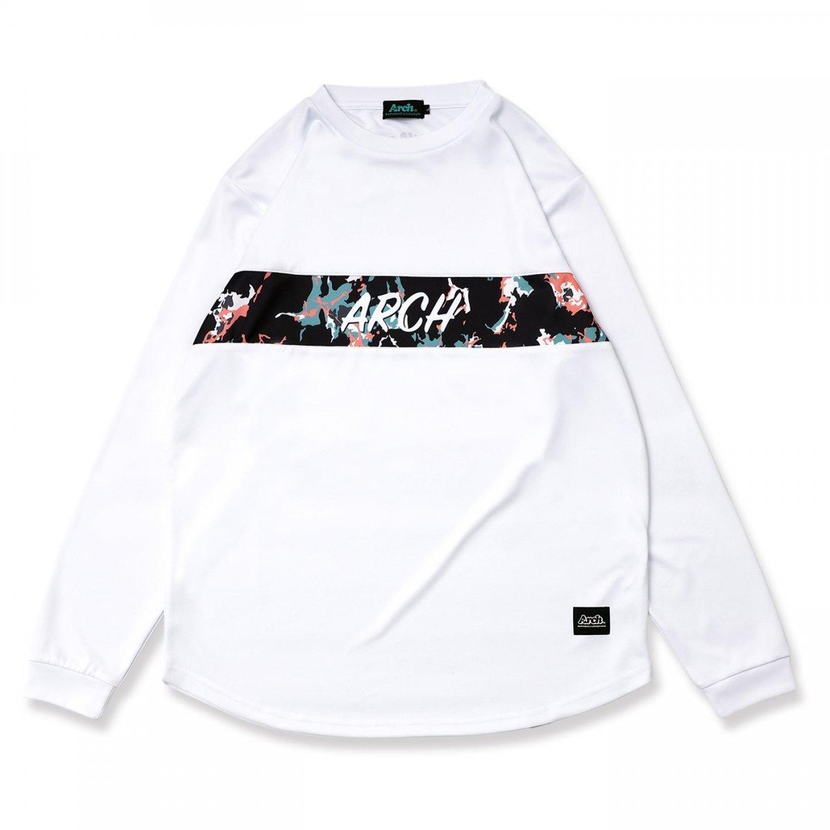 マーブリング L/S Tシャツ ホワイト