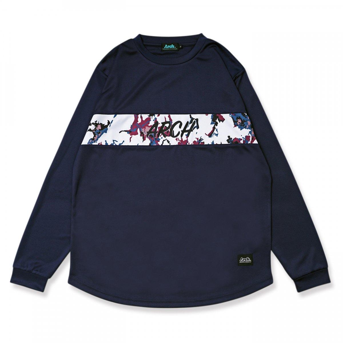 マーブリング L/S Tシャツ ネイビー